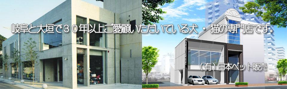 岐阜と大垣で30年以上ご愛顧いただいている犬・猫の専門店です。